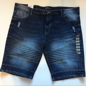 South Pole Jeans Shorts Distressed NWT Sz 42 Slim